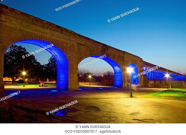 The Aqueduct, Garden Of Peyrou, Montpellier, Herault, France