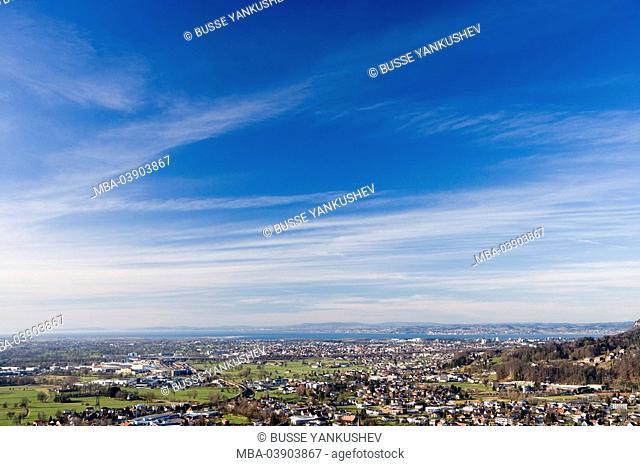 Rhine-valley, Dornbirn, Vorarlberg, Lake Constance, Austria