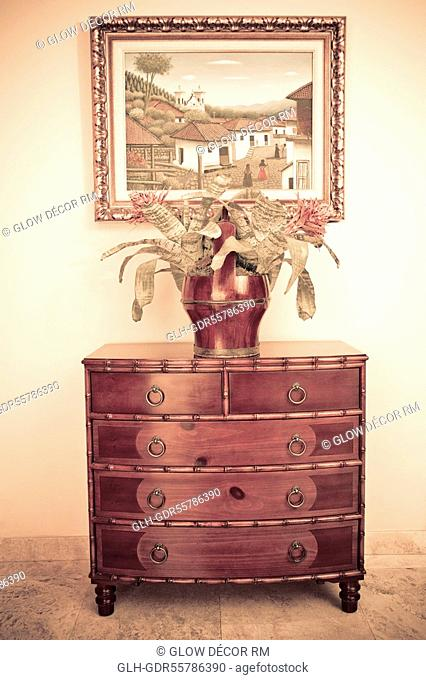 Vase on a chest
