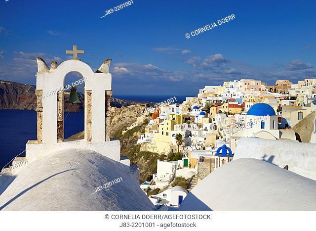 View of Oia village , Oia , Santorini, Aegean Island, Cyclades Islands, Greek Islands, Greece, Europe
