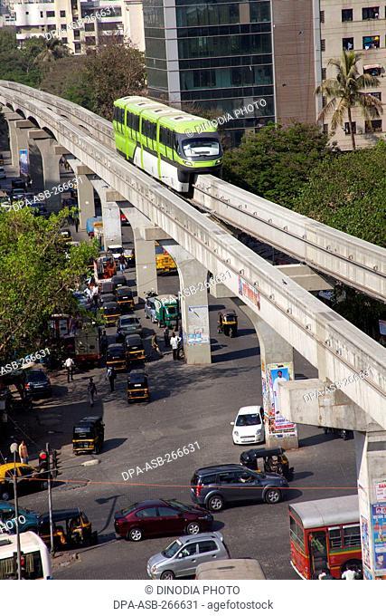 Monorail, Chembur, Mumbai, Maharashtra, India, Asia