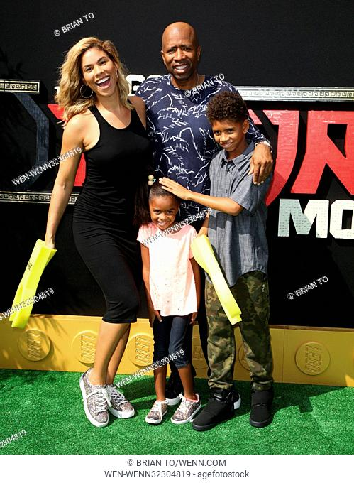 'The LEGO Ninjago Movie' - Premiere Featuring: Kenny Smith, family Where: Los Angeles, California, United States When: 16 Sep 2017 Credit: Brian To/WENN