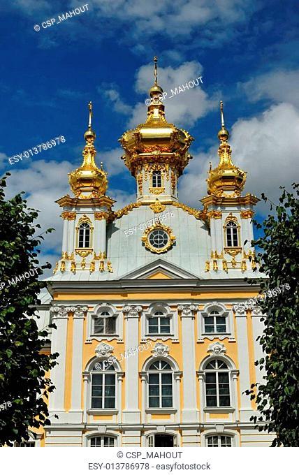 Church of the big Peterhof palace