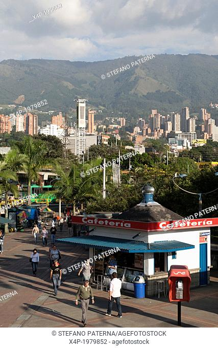 Cafeteria and Food Stall, Poblado Metro Station, Medellin, Colombia