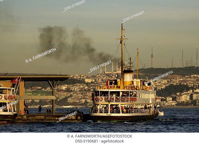 Istanbul, Turkey A ferry on the Bosphorus
