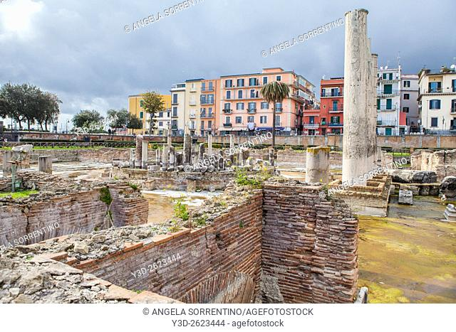 Roman Temple of Serapide, Pozzuoli, Italy