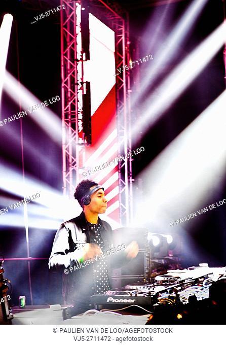 's Hertogenbosch, Netherlands, DJ FS Green is performing on stage