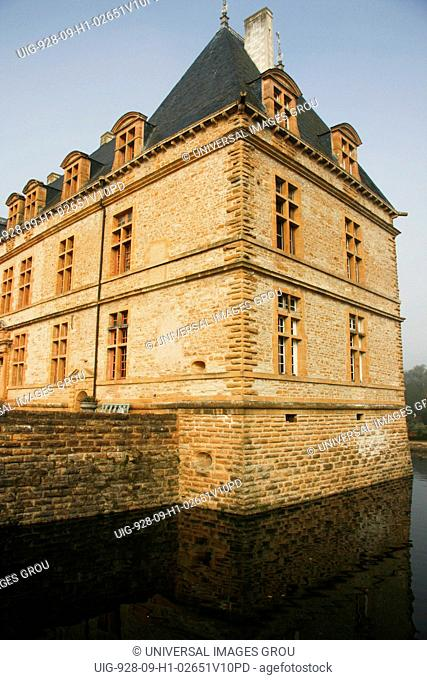 France, Cormatin Castle With Moat