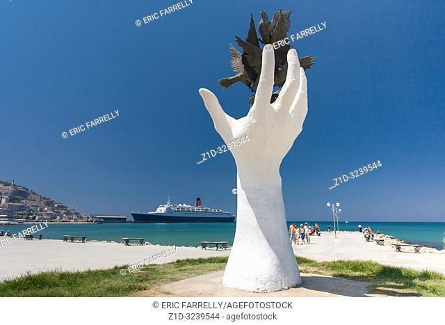 Kusadasi Hand and Dove Statue Turkey