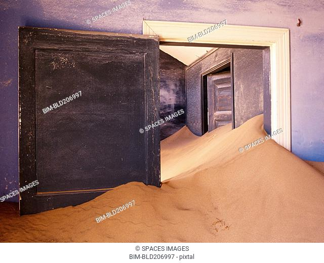 Abandoned House Filled with Drifting Sand