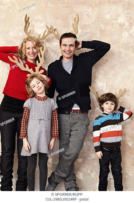 Family with antlers