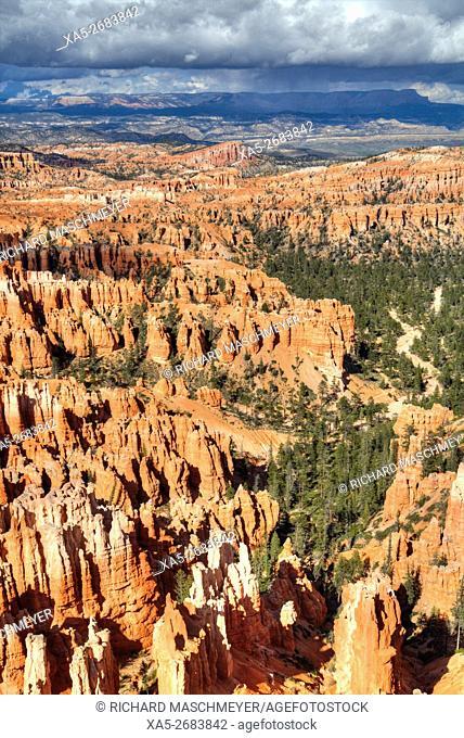 Hoodoos taken from Inspiration Point, Bryce Canyon National Park, Utah, USA