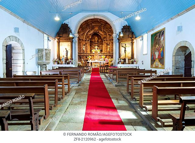 Old church's interior, at the historic village of Marialva, Portugal