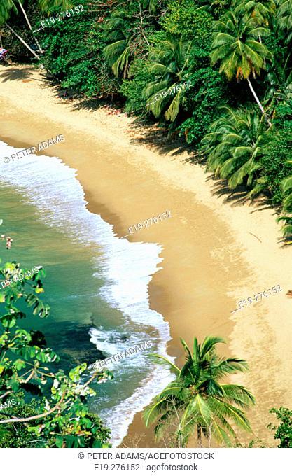 Beach in Tobajo. Caribbean Islands