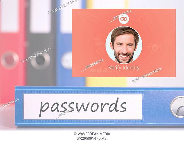 Identity Verify passwords App Interface