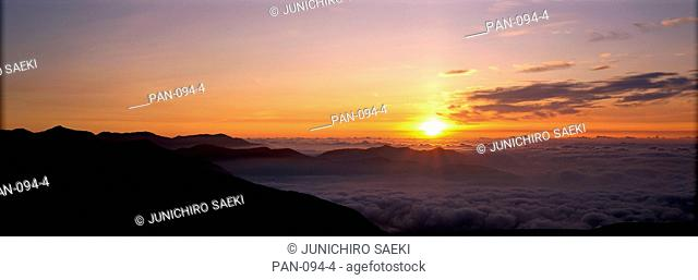 Sunrise from Mount Norikura, Nagano, Japan