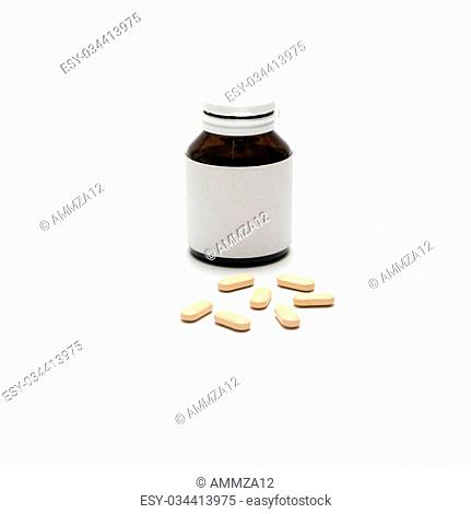 pills isolated on white backgrund