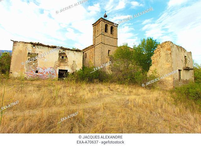 abandoned village Tiermas, Spain