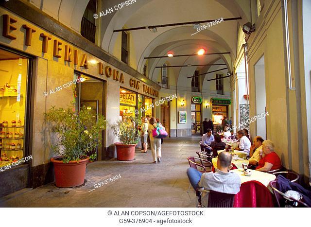 Italy. Piedmont. Turin (Torino). Via Roma. Shops