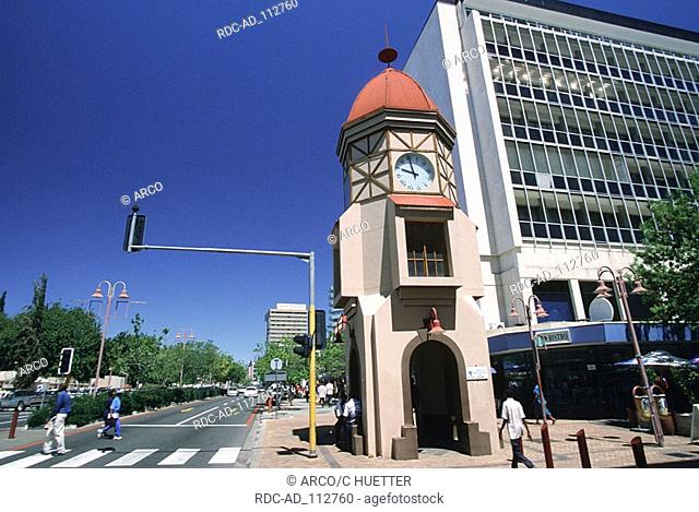 Clock tower at Independence Avenue Windhoek Namibia