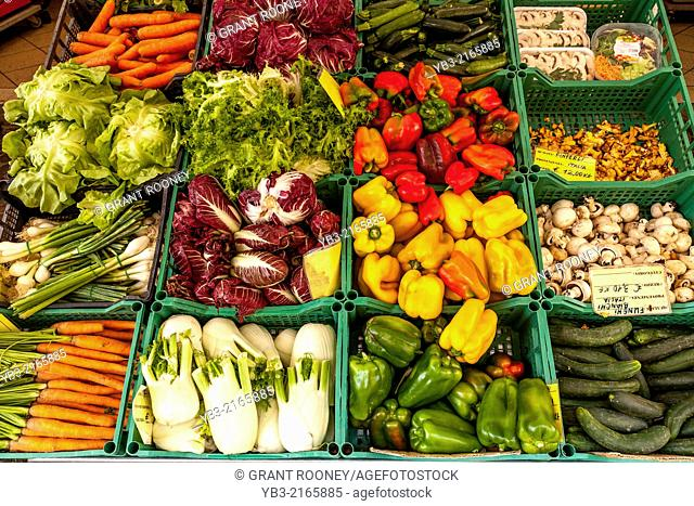 Fresh Vegetables For Sale, Bardolino, Lake Garda, Veneto, Italy
