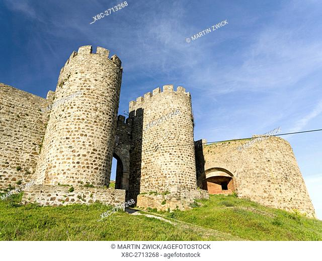 Mountain village and castle Evoramonte in the Alentejo. Europe, Southern Europe, Portugal, March