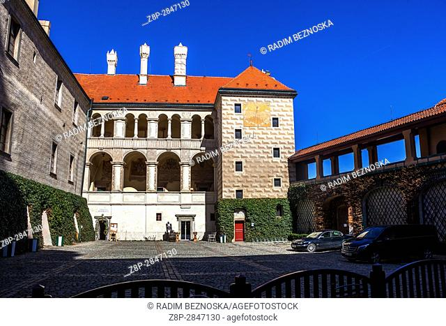 Melnik Castle, Courtyard, Central Bohemia, Czech Republic, Europe
