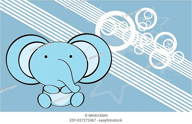 cute baby elephant background in vector format very easy to edit