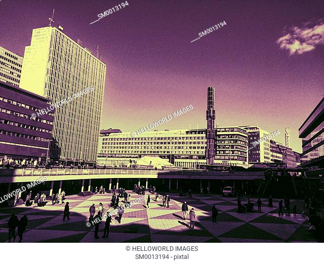 Sergels Torg, Stockholm, Sweden, Scandinavia. It is the most central square in Stockholm, named after 18th century sculptor Johan Tobias Sergel