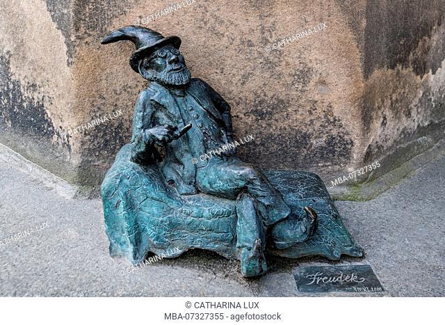 Poland, Wroclaw, Wroclaw's dwarfs, former symbol of resistance, Sigmund Freud