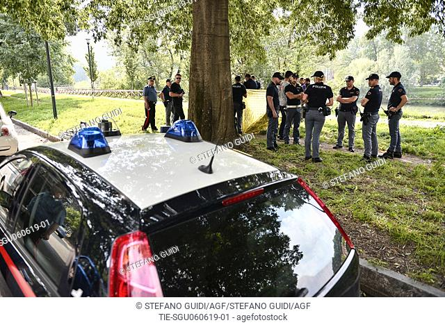 Murder-discovery of the corpse of the friend of the Bahamas diplomat, Ramsey Alrae Keiron found in the Po River in Turin,ITALY-05-06-2019