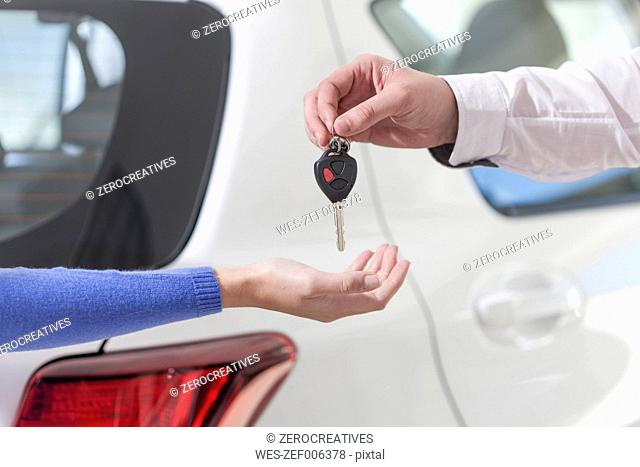 Handing over of car key