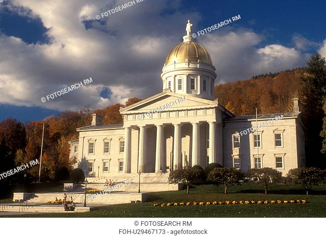 capitol, State House, fall, State Capitol, Montpelier, VT, Vermont, The State House in Montpelier in the autumn