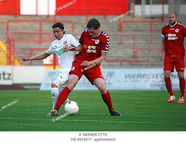 sports, football, Regional League West, 2014/2015, Rot Weiss Oberhausen versus Fortuna Duesseldorf U23 3:1, Stadium Niederrhein in Oberhausen
