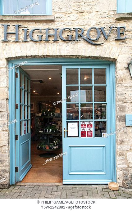 Prince Charles's Highgrove estate gift shop in Tetbury, England