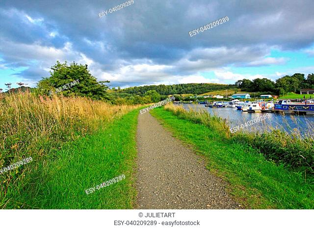 Forth and Clyde canal, Scotland, UK
