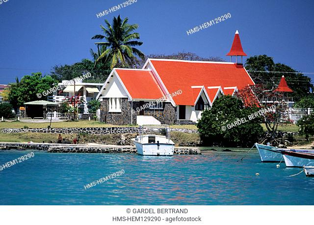 Mauritius Island, Grand Gaube region, Cap Malheureux, Notre Dame de l'Auxiliatrice church