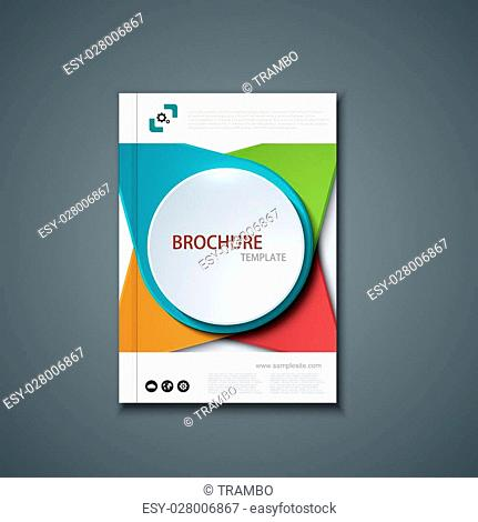 Vector flyer or banner. Brochure template design. Eps10
