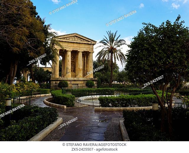 Doric Temple memorial to Sir Alexander Ball in the Barrakka Gardens - Valletta , Malta