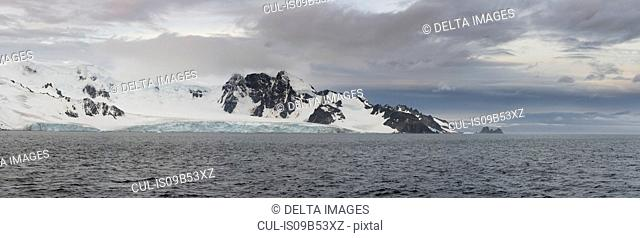 Panoramic view of Livingstone Island, English strait, Antarctica