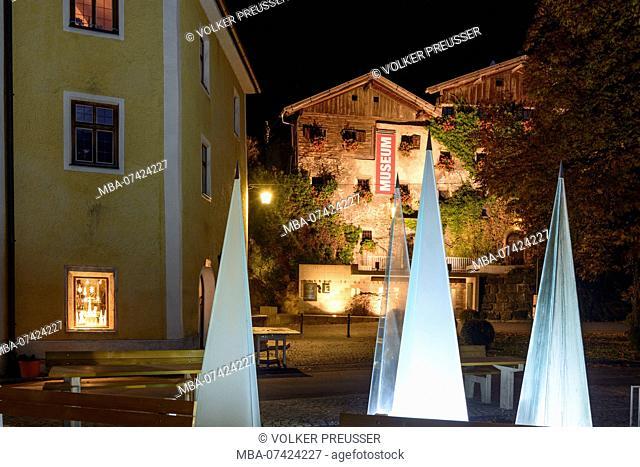 Rattenberg, house Nagelschmiedhäuser, today museum, glas landmark, Alpbachtal & Tiroler Seenland Region, Tyrol, Austria