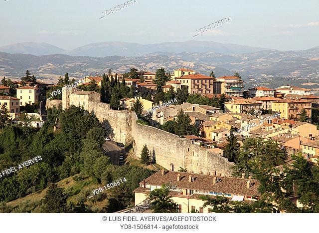 Panoramic View of the city of Perugia, Umbria, Italy, Europe