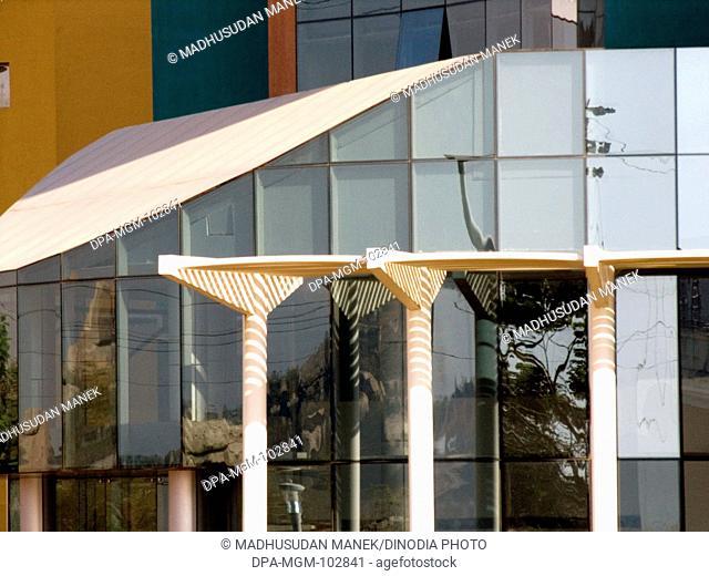 Modern designed building ; Hyderabad ; Andhra Pradesh  ; India