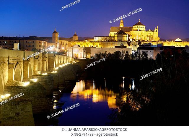 Puente Romano, Roman Bridge, Córdoba, Andalusia, Spain, Europe