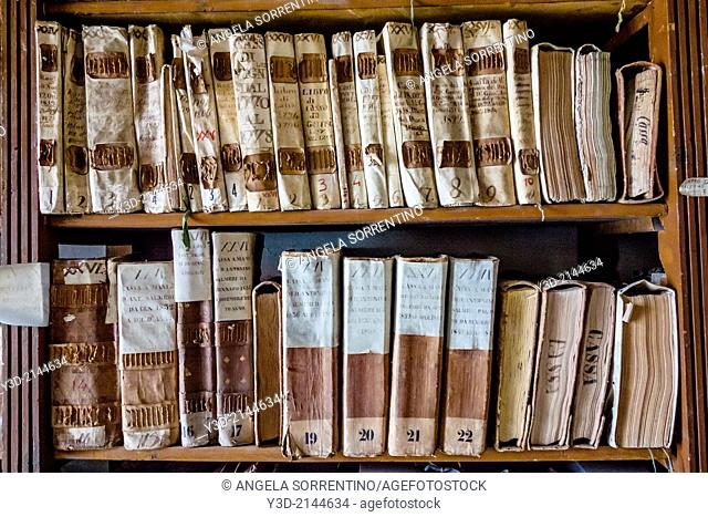 Historical archive of Naples, Italy