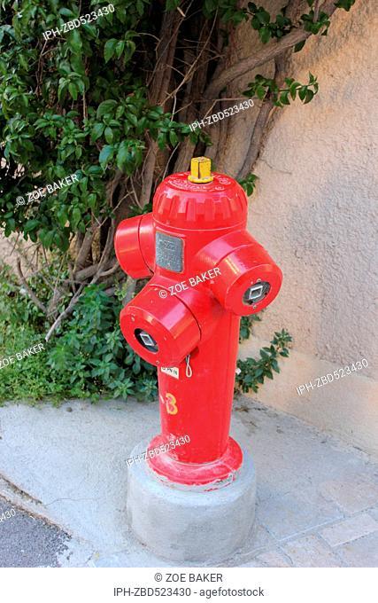 France ,Cote D'Azur, ,St Tropez, Fire Hydrant. Zoe Baker