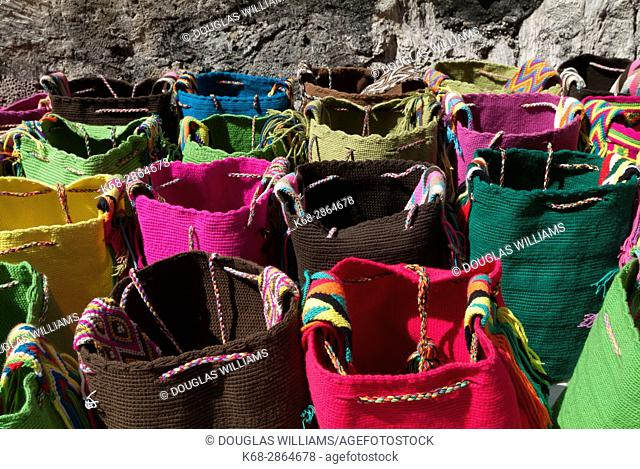 woven bags in Cartagena, Colombia