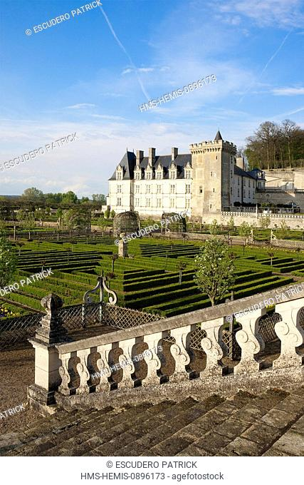 France, Indre et Loire, Loire Valley, listed as World Heritage by UNESCO, Villandry, Chateau de Villandry Gardens, property of Henri and Angelique Carvallo
