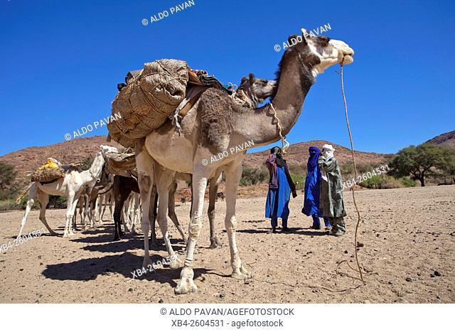 Niger, Agadez region, Aïr Mountains, Elmeki village