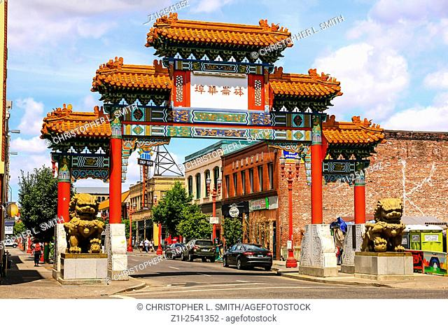 Old Town Chinatown entrance gate on NW 4th Avenue and Burnside in Portland Oregon